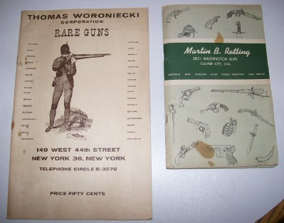 1950s Gun Dealer Catalog Pair With Edged Weapons & War Relics