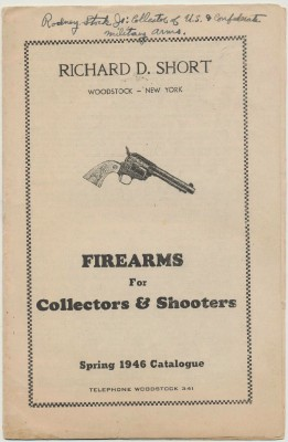 1946 Richard D Short Gun Catalog