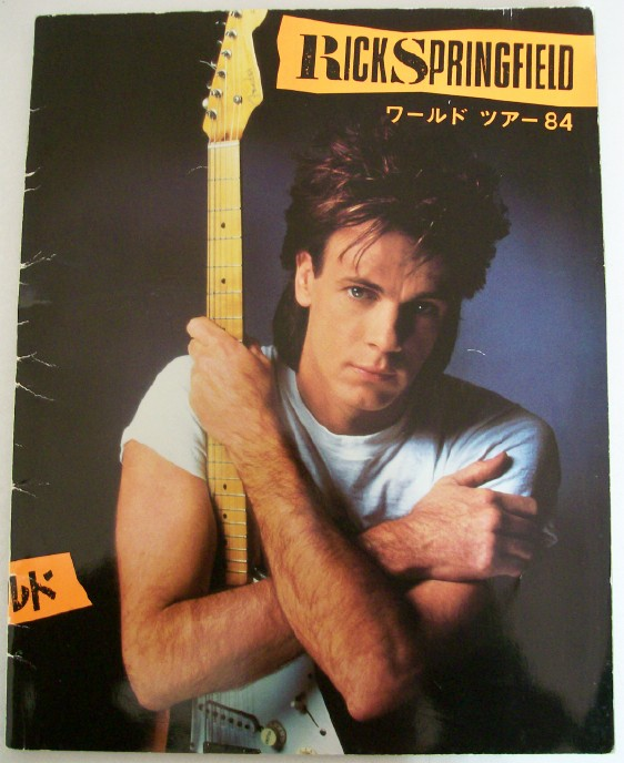 1984 Rick Springfield World Tour Book From Japan