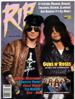 June 1988 RIP Magazine - Guns N' Roses - Heavy Metal Music