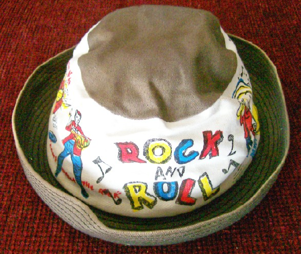 50s Rock & Roll Jitterbug Hat With Slogans & Images