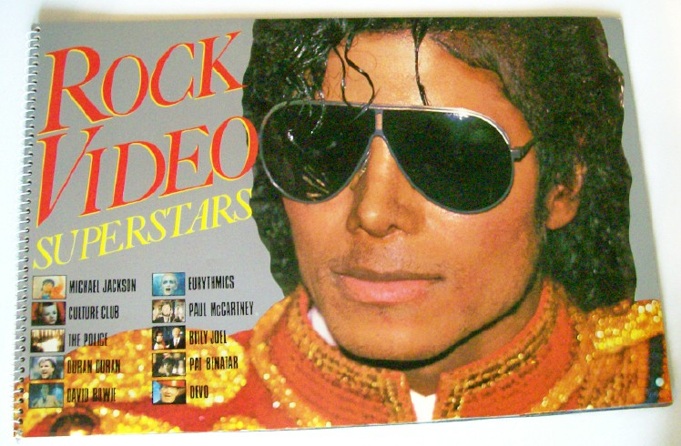 Vintage 1984 Rock Video Photo Album - Michael Jackson Cover