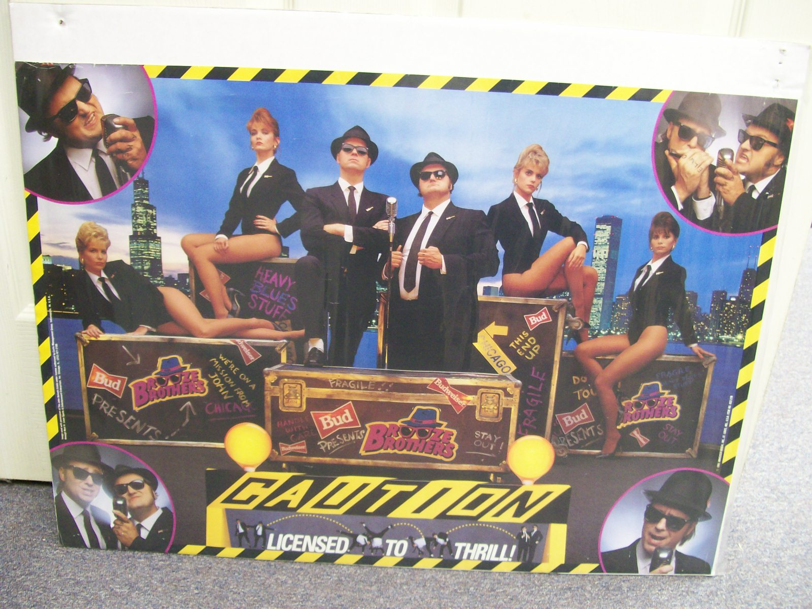 BLUES BROTHERS 1991 ANHEUSER BUSCH POSTER-RARE