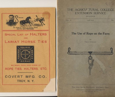 1916 Rope Use Book + Halter & Lariat Horse Ties Catalog