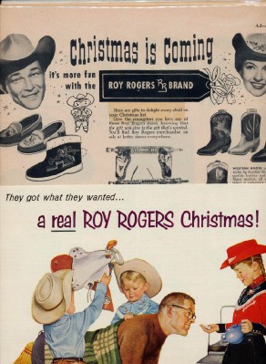 Vintage 1950s Roy Rogers Enterprises Toy & Clothing Advertising