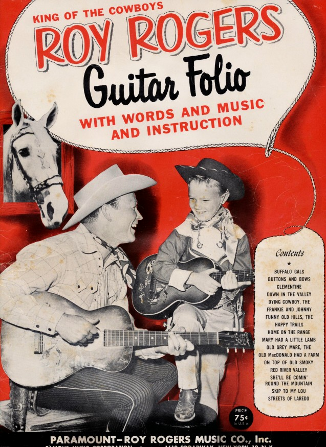 1954 Roy Rogers Guitar Song Book W/Roy, Dusty, & Trigger