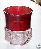 Rare Ruby Flash Glass Fancy Swirl Pattern Tumbler