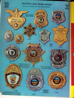 1975 Sargent-Sowell Police & Fire Dept Badge Catalog - SA-SO