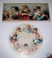 1891-2 Hood's Sarsaparilla Advertising Calendar Pair W/Children