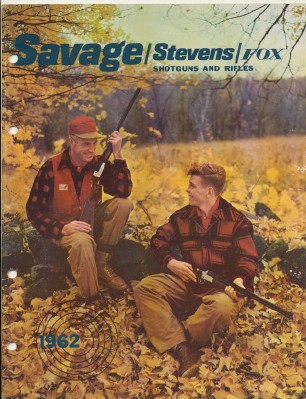 1962 Savage Stevens Fox Shotgun & Rifle Gun Catalog