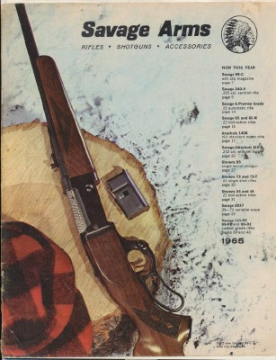 1965 Savage Arms Gun Catalog - Rifles Shotguns Accessories