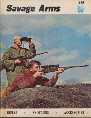 1966 Savage Arms Gun Catalog - Rifles Shotguns Accessories