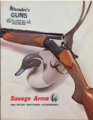 1968 Savage Arms Gun Catalog - Rifles Shotguns Accessories
