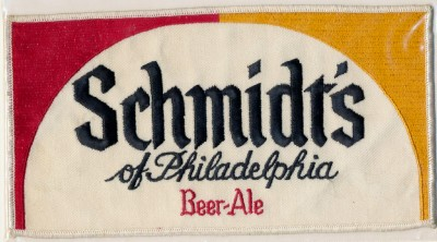 Schmidt's Beer - Large Embroidered Patch - Never Used