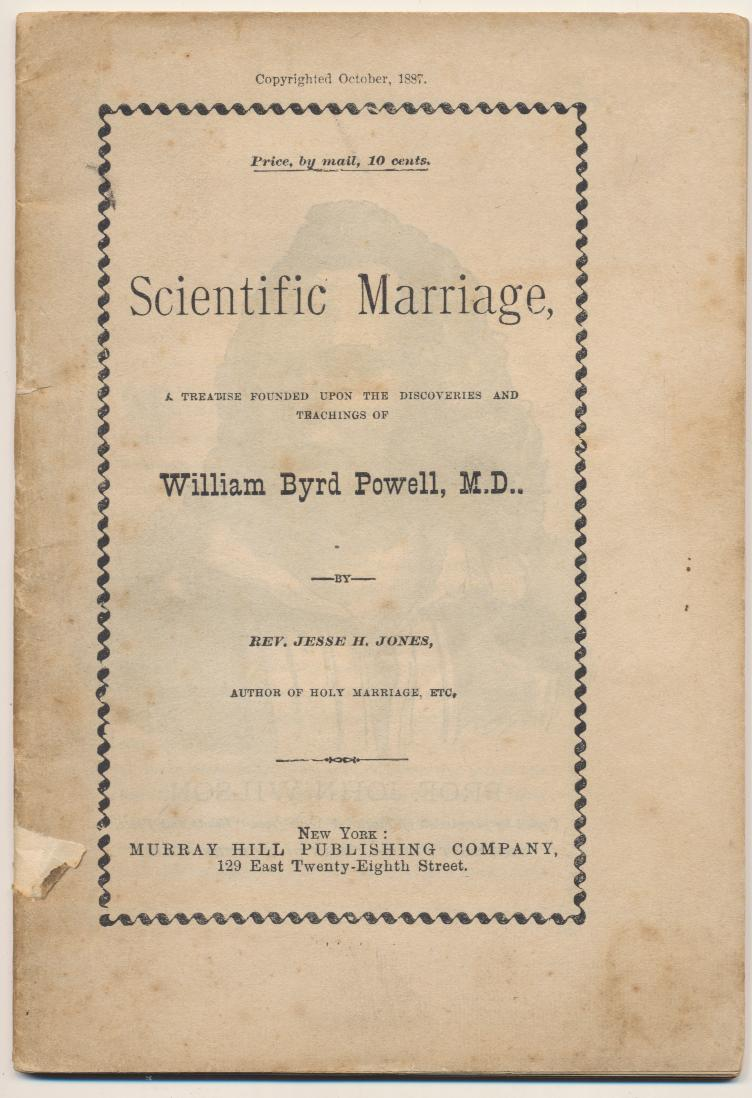1887 Scientific Marrige Manual - WCTU - Temperament Study
