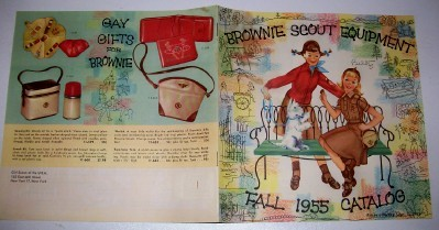 Vintage 1955 Brownie Scout Girl Scout Equipment Catalog