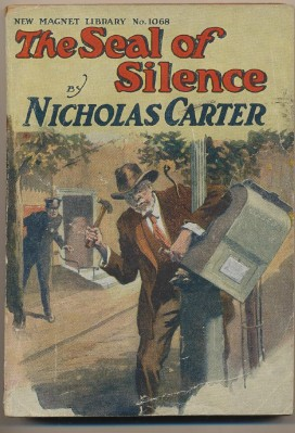 1901 Nicholas Carter Pulp Fiction Novel Book-The Seal Of Silence