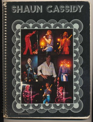 Vintage 1979 Student Notebook With Shaun Cassidy Cover