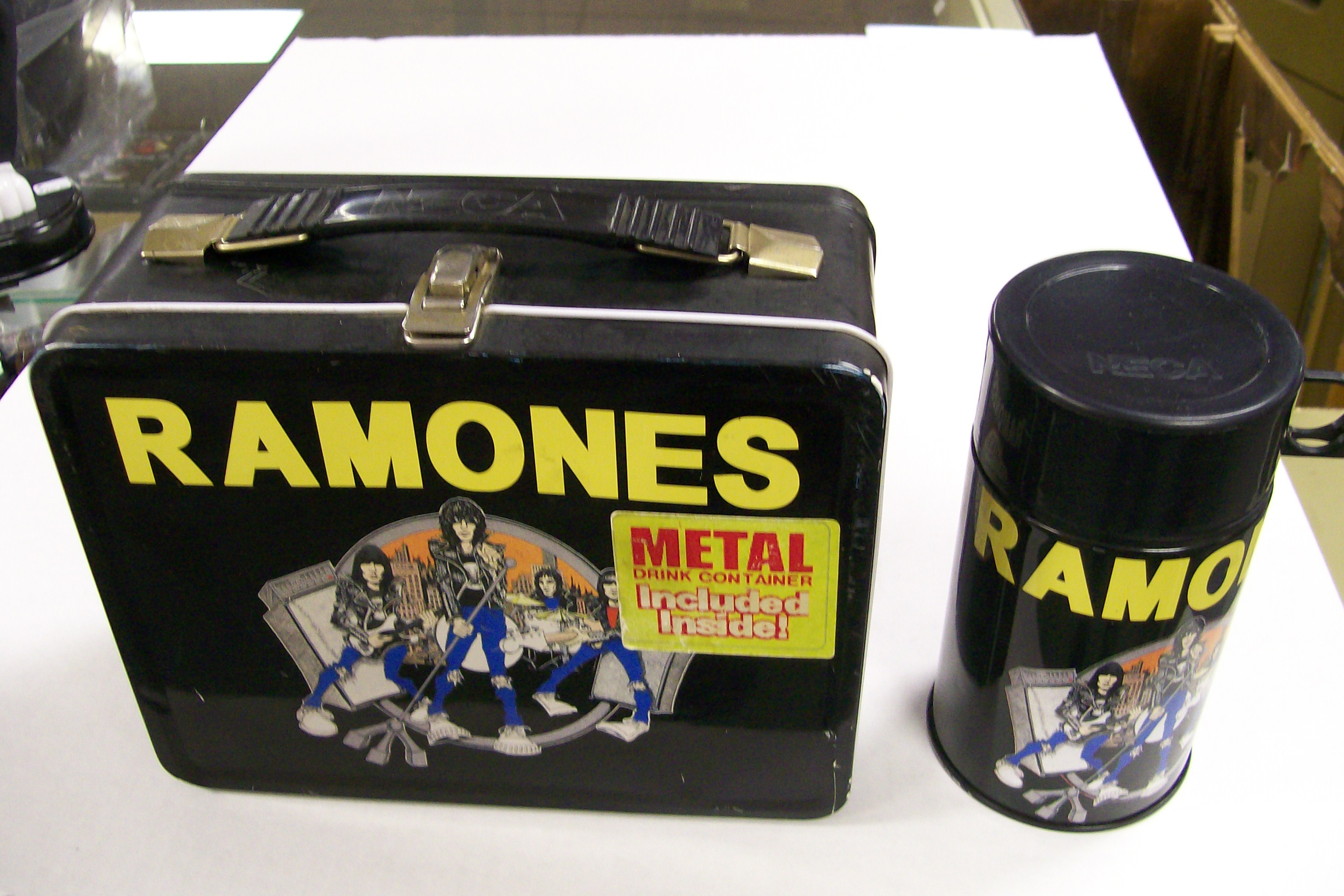 Ramones Metal Lunch Box wiith Metal Drink Container