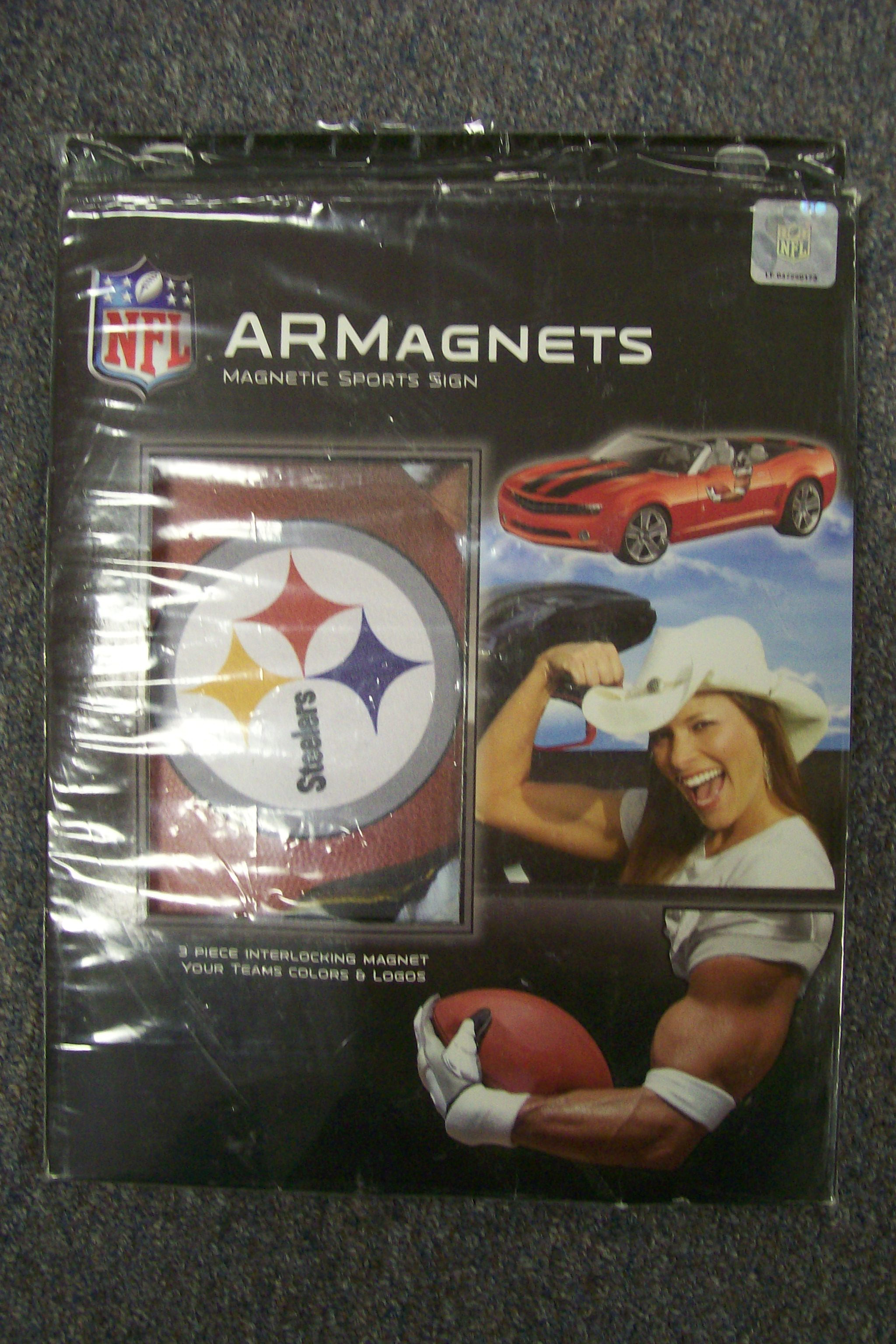 Pittsburgh Steelers Armagents Magnetic Sports Sign 3 Pcs..