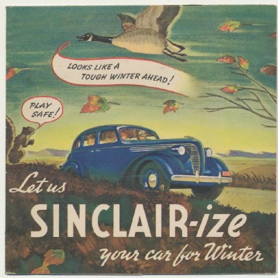 1938 Sinclair Oil Company Brochure With Die Cut Overlays - Rare