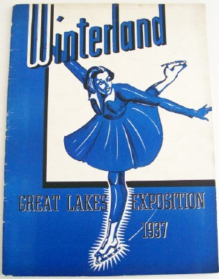 1937 Great Lakes Exposition Ice Skating Program - Winterland