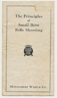 1932 Montgomery Ward Advertising Booklet - Shooting A .22