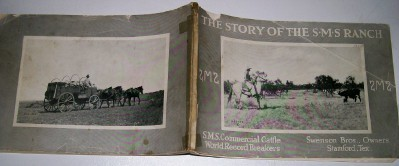 1922 SMS Texas Ranch Photo History & Advertising Book
