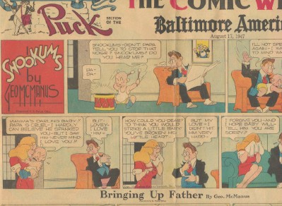 1947 Puck Section Of The Comic Weekly - Snookums