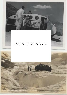 Banff Snowmobile Real Photo Postcard & Photo