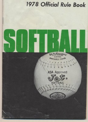 1978 Official Softball Rule Book