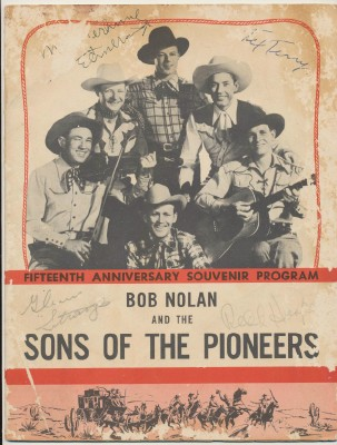1949 Sons Of The Pioneers Program With 10 Western Autographs