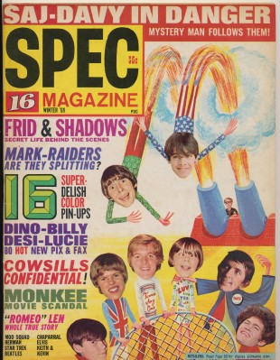 Winter 1969 16 Spec Teen Magazine - Monkees Cover Stories