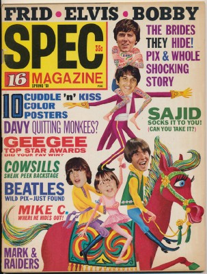 Spring 1969 16 Spec - Monkees Cover Feature Articles + Elvis