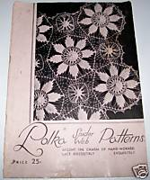 1939 Polka Spider Web Handmade Lace Pattern Book