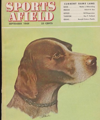 Sept 1949 Sports Afield - Dog Portrait Cover By Atherton