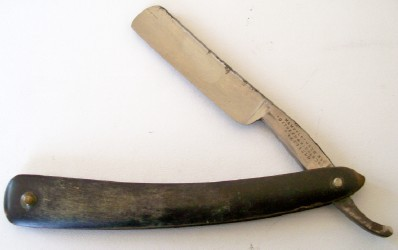 Vintage Southern & Richardson Straight Razor With Bone Handle