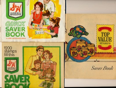 Collection Of Vintage Top Value & S&H Trading Stamp Saver Books