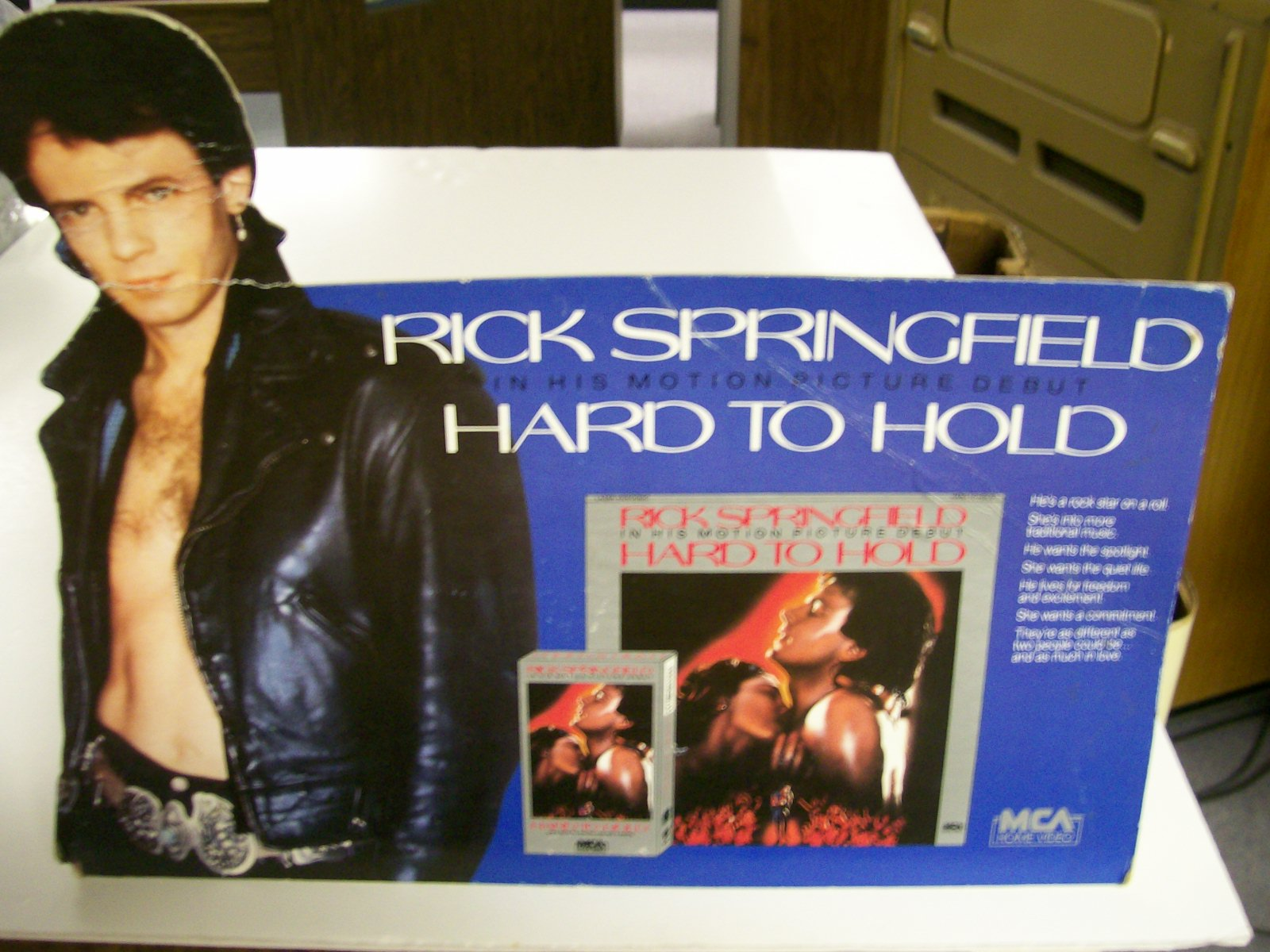 "Rick Springfield Motion Picture Debut ""Hard To Hold""MCA"