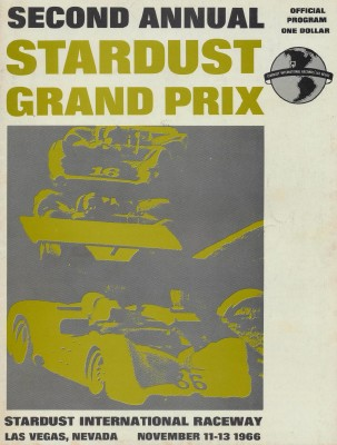 1966 Stardust Grand Prix Program - Las Vegas