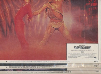 1983 Staying Alive Movie Lobby Card Lot - John Travolta