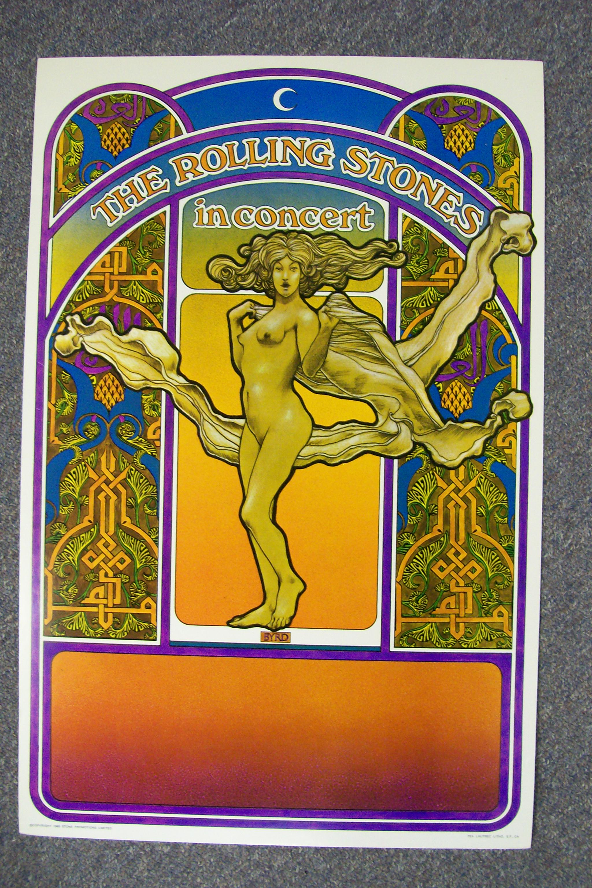 The Rolling Stones In Concert Promotial Poster 1969 Litho