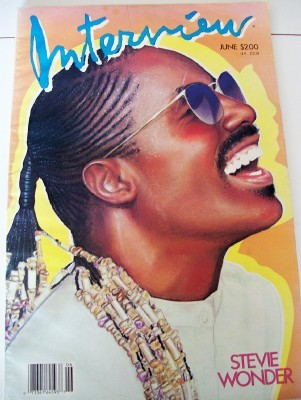 1986 Interview Fan Magazine - Stevie Wonder Cover Feature