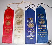 1946-59 Great Stoneboro Fair PA Winning Exhibit Ribbons