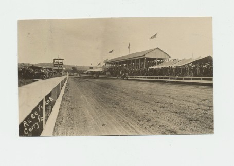1910 Corry PA Harness Racing Track Real Photo Postcard RPPC