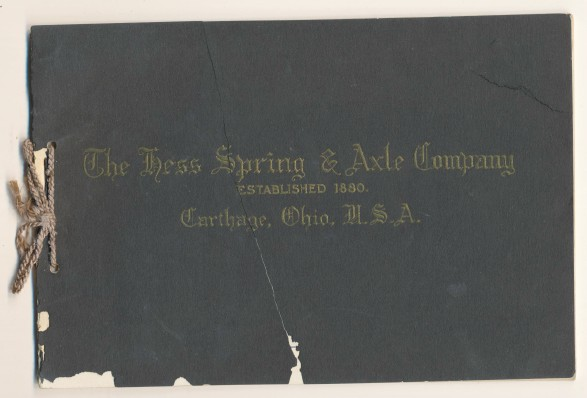 1893 Hess Spring & Axle Trade Catalog--Car Truck & Wagon Springs