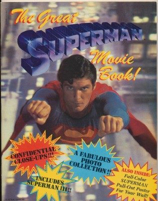 1978 Great Superman Movie Book W/Christopher Reeve Poster