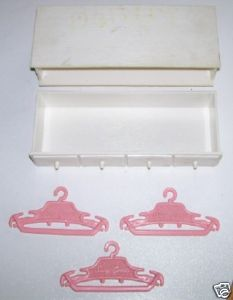 Suzy Goose Doll Clothes Hangers & Dresser - Barbie Scale