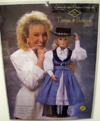 Vintage Advertising Brochure For Tanya Tucker's Bonnie Doll