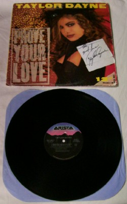 Prove Your Love LP Autographed By Taylor Dayne